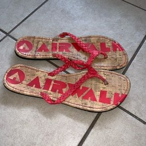 AIRWALK Braided Leather And Cork Style Sandals